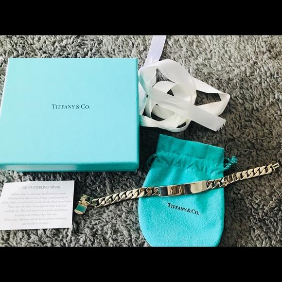 f46dadda00d71 Tiffany & Co. Men's ID Bracelet w/Pouch, Box, Bow